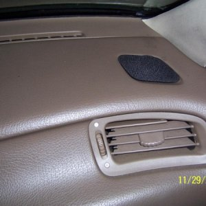 Grill cloth over tweeter custom in dash
