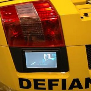 Defiant Audio, Delaware installs TV's into Laborghini Bumpers, 4 of them!