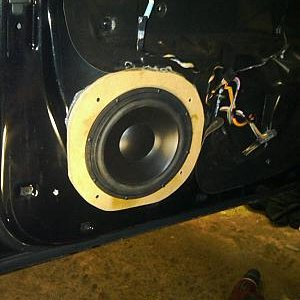 Front Doors  9 inch Morel Mid Base Woofers