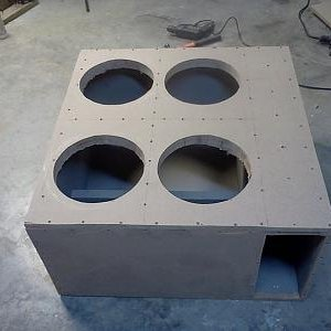four 12 box with baffles in place