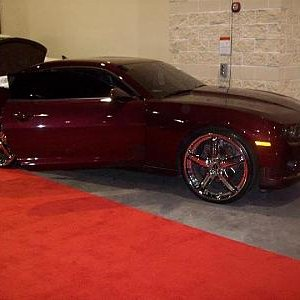 NFL player Brandon Meriweather's Camaro SS at sbn 2012