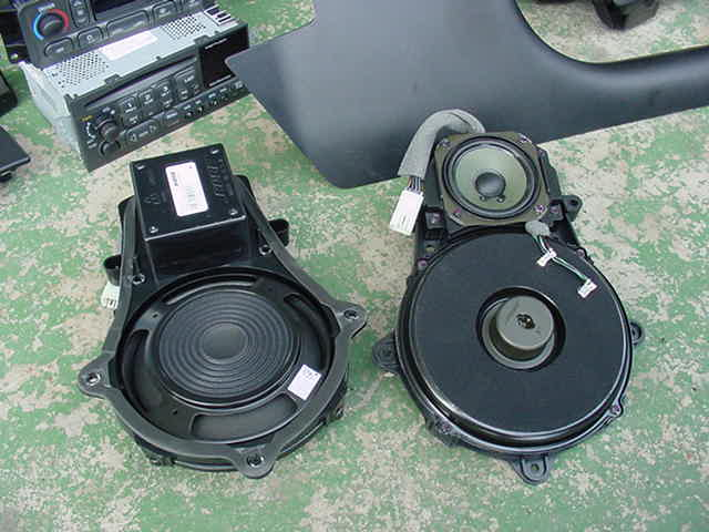Bose speakers out of the vette